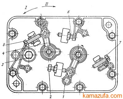 Крышка регулятора с рычагами подачи топлива и останова двигателя