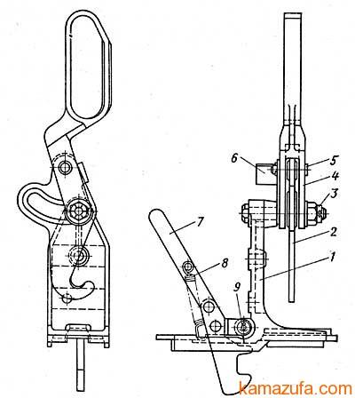 Запорное устройство кабины КамАЗ