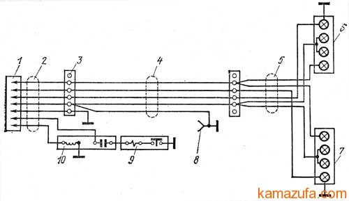 Схема электрооборудования прицепа ГКБ-8350