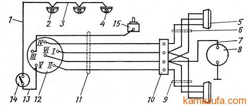 Схема электрооборудования полуприцепа ОдАЗ-9770 (ОдАЗ-9370)