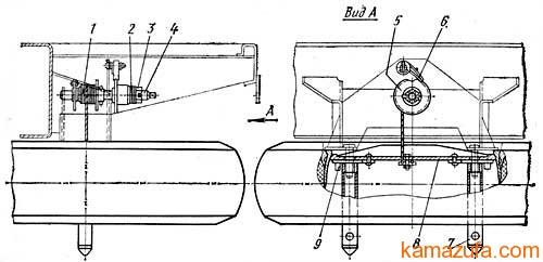 Держатель запасного колеса прицепа ГКБ-8350